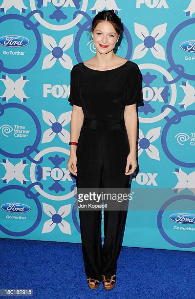 Actress Melissa Benoist arrives at the 2013 Fox Fall EcoCasino Party at The Bungalow on September 9 2013 in Santa Monica California