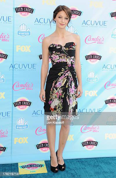 Actress Melissa Benoist arrives at the 2013 Teen Choice Awards at Gibson Amphitheatre on August 11 2013 in Universal City California