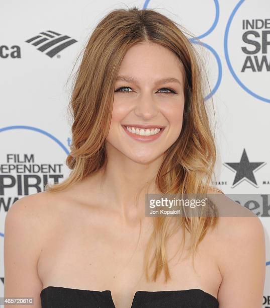 Actress Melissa Benoist arrives at the 2015 Film Independent Spirit Awards on February 21 2015 in Santa Monica California