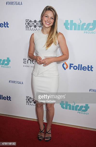 Actress Melissa Benoist arrives at the 6th Annual Thirst Gala at The Beverly Hilton Hotel on June 30 2015 in Beverly Hills California