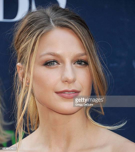 Actress Melissa Benoist arrives at the CBS CW And Showtime 2015 Summer TCA Party at Pacific Design Center on August 10 2015 in West Hollywood...