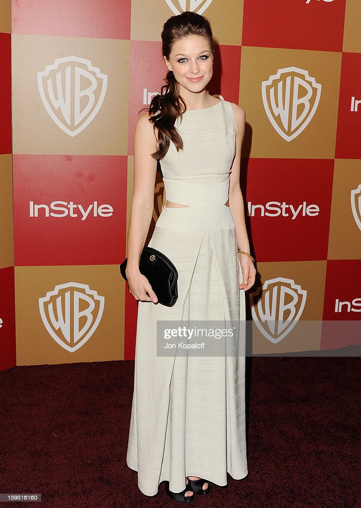 Actress Melissa Benoist arrives at the InStyle And Warner Bros. Golden Globe Party at The Beverly Hilton Hotel on January 13, 2013 in Beverly Hills, California.