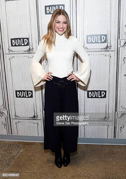 Actress Melissa Benoist attends Build Series to discuss her roles in 'Supergirl' And 'Patriots Day' at Build Studio on January 23 2017 in New York...