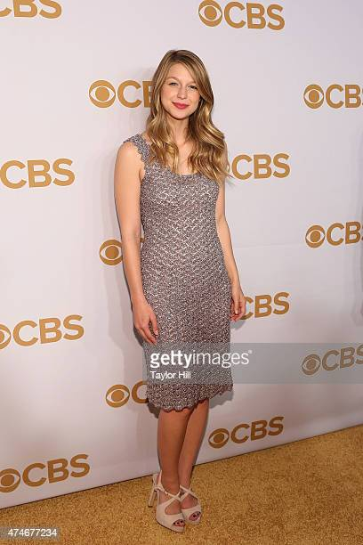 Actress Melissa Benoist attends the 2015 CBS Upfront at The Tent at Lincoln Center on May 13 2015 in New York City
