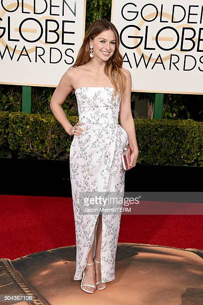 Actress Melissa Benoist attends the 73rd Annual Golden Globe Awards held at the Beverly Hilton Hotel on January 10 2016 in Beverly Hills California