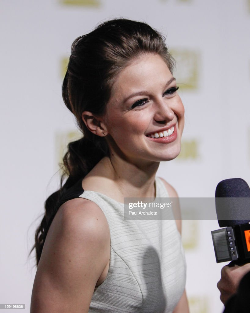Actress <a gi-track='captionPersonalityLinkClicked' href=/galleries/search?phrase=Melissa+Benoist&family=editorial&specificpeople=5294908 ng-click='$event.stopPropagation()'>Melissa Benoist</a> attends the FOX after party for the 70th Golden Globes award show at The Beverly Hilton Hotel on January 13, 2013 in Beverly Hills, California.