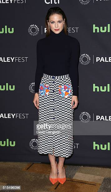 Actress Melissa Benoist attends The Paley Center For Media's 33rd Annual PaleyFest Los Angeles 'Supergirl' at the Dolby Theatre on March 13 2016 in...