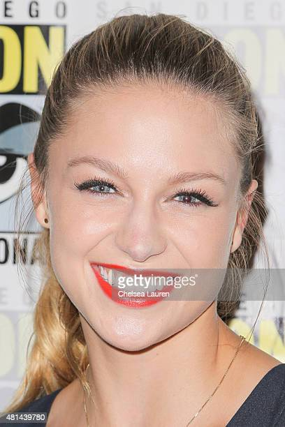 Actress Melissa Benoist attends the 'Supergirl' press room on July 11 2015 in San Diego California
