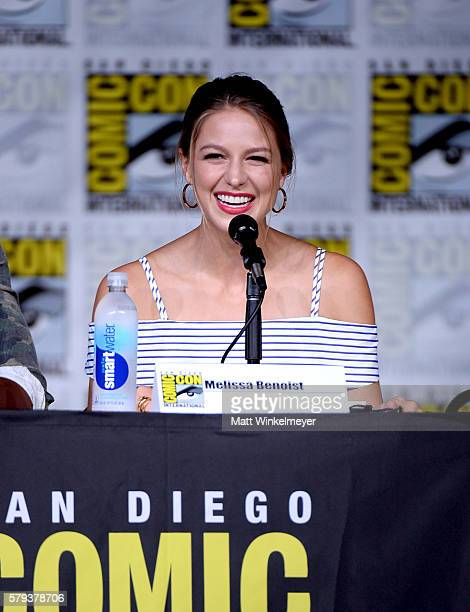 Actress Melissa Benoist attends the 'Supergirl' Special Video Presentation and QA during ComicCon International 2016 at San Diego Convention Center...