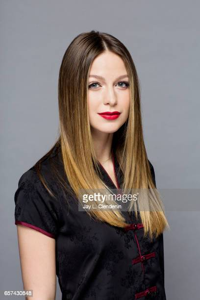 Actress Melissa Benoist from CW's 'Supergirl' is photographed at Paley Fest for Los Angeles Times on March 18 2017 in Los Angeles California...