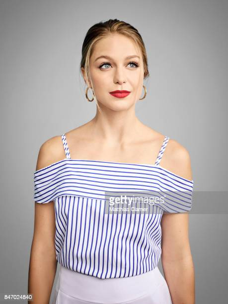 Actress Melissa Benoist from 'Supergirl' is photographed for Entertainment Weekly Magazine on July 23 2016 at Comic Con in the Hard Rock Hotel in San...
