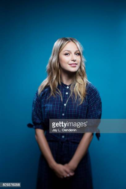 Actress Melissa Benoist from the television series 'Supergirl' is photographed in the LA Times photo studio at ComicCon 2017 in San Diego CA on July...