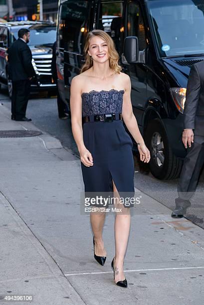 Actress Melissa Benoist is seen on October 26 2015 in New York City