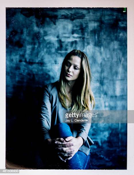 Actress Melissa Benoist of 'Supergirl' is photographed on polaroid film at ComicCon International 2015 for Los Angeles Times on July 9 2015 in San...