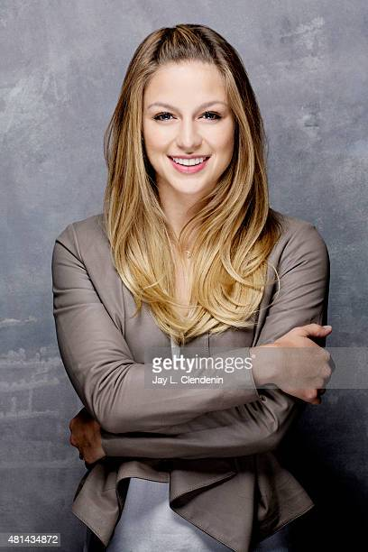 Actress Melissa Benoist of 'Supergirl' poses for a portrait at ComicCon International 2015 for Los Angeles Times on July 9 2015 in San Diego...