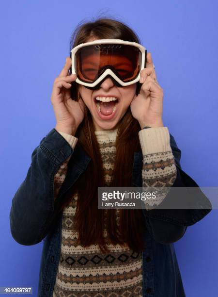 Actress Melissa Benoist poses for a portrait during the 2014 Sundance Film Festival at the Getty Images Portrait Studio at the Village At The Lift...