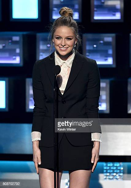 Actress Melissa Benoist speaks onstage during the People's Choice Awards 2016 at Microsoft Theater on January 6 2016 in Los Angeles California