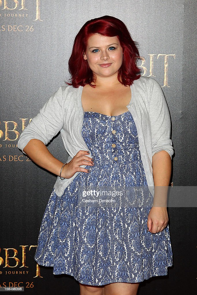 Actress Melissa Bergland attends the Melbourne premiere of 'The Hobbit: An Unexpected Journey' at Village Cinemas on December 18, 2012 in Melbourne, Australia.