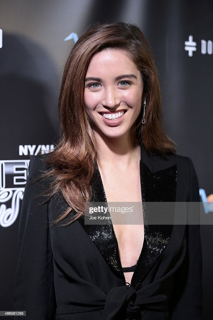 Actress <a gi-track='captionPersonalityLinkClicked' href=/galleries/search?phrase=Melissa+Bolona&family=editorial&specificpeople=10181242 ng-click='$event.stopPropagation()'>Melissa Bolona</a> attends the 11th Annual 'Leather & Laces' Party at The Liberty Theatre on February 1, 2014 in New York City.