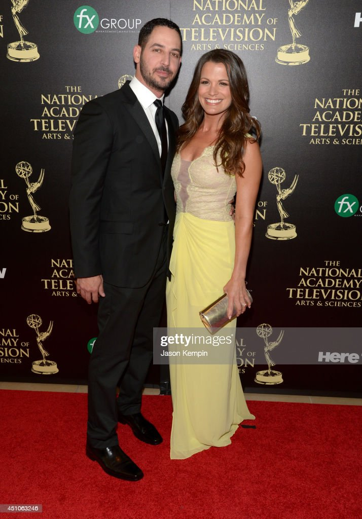Actress Melissa Claire Egan (R) and Matt Katrosar attend The 41st Annual Daytime Emmy Awards at The Beverly Hilton Hotel on June 22, 2014 in Beverly Hills, California.