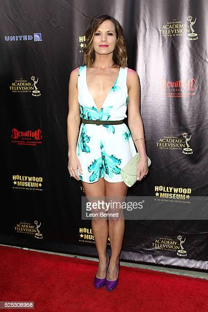 Actress Melissa Claire Egan attends the 2016 Daytime Emmy Awards Nominees Reception Arrivals at The Hollywood Museum on April 27 2016 in Hollywood...