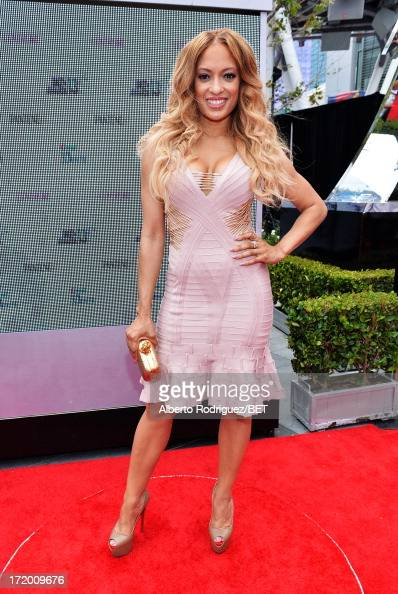 Actress Melissa De Sousa attends the PG Red Carpet Style Stage at the 2013 BET Awards at Nokia Theatre LA Live on June 30 2013 in Los Angeles...