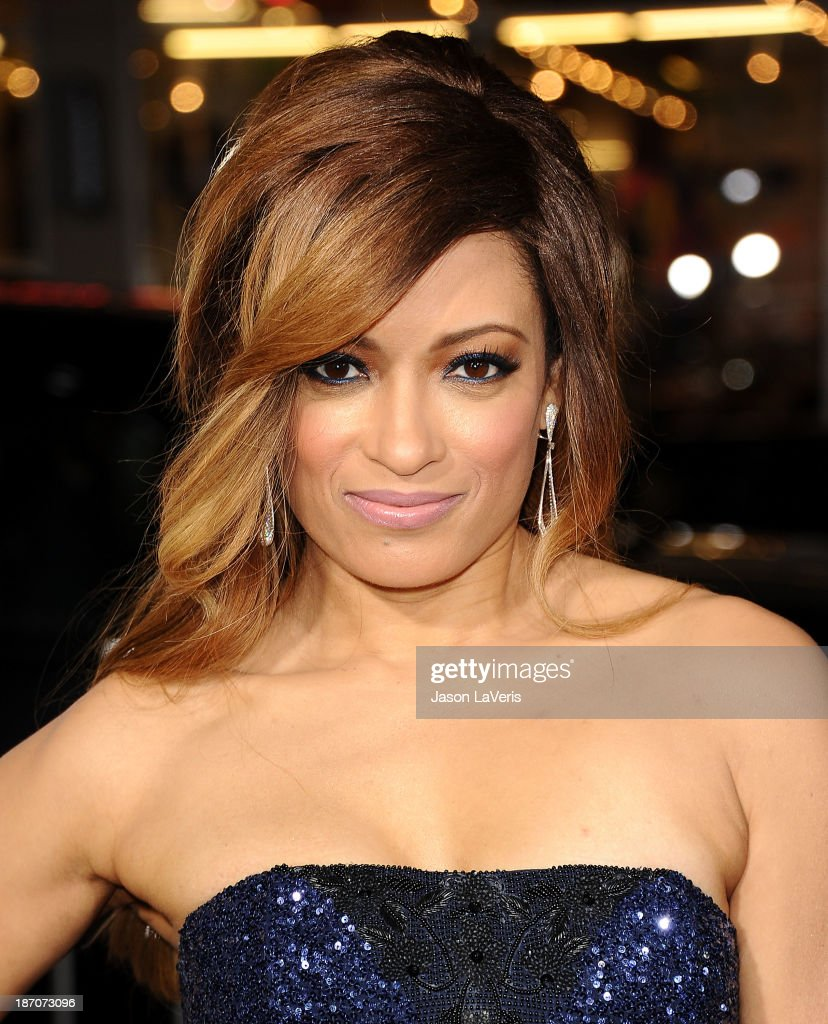 Actress Melissa De Sousa attends the premiere of 'The Best Man Holiday' at TCL Chinese Theatre on November 5, 2013 in Hollywood, California.