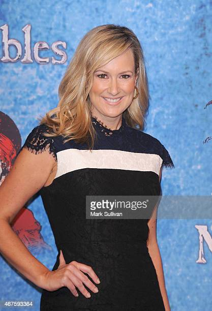 Actress Melissa Doyle at the opening of Les Miserables at Capitol Theatre on March 26 2015 in Sydney Australia
