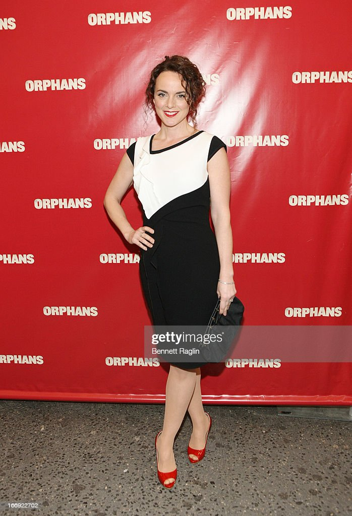Actress Melissa Errico attends the 'Orphans' Broadway Opening Night at the Gerald Schoenfeld Theatre on April 18, 2013 in New York City.