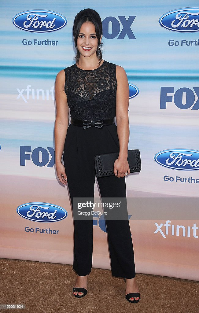 Actress <a gi-track='captionPersonalityLinkClicked' href=/galleries/search?phrase=Melissa+Fumero&family=editorial&specificpeople=5616782 ng-click='$event.stopPropagation()'>Melissa Fumero</a> arrives at the 2014 FOX Fall Eco-Casino Party at The Bungalow on September 8, 2014 in Santa Monica, California.
