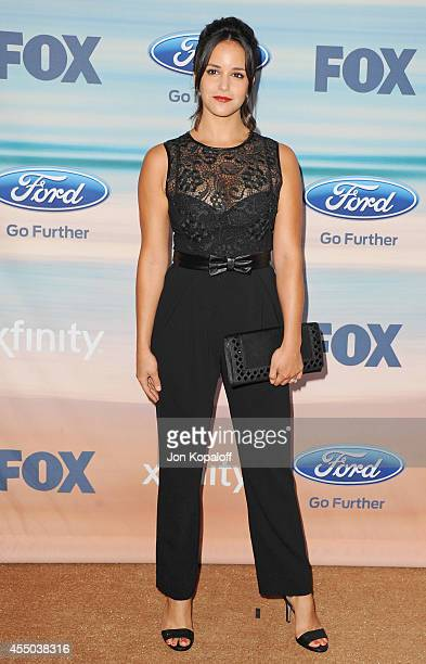 Actress Melissa Fumero arrives at the 2014 FOX Fall EcoCasino Party at The Bungalow on September 8 2014 in Santa Monica California