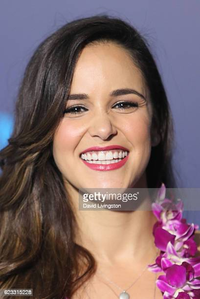 Actress Melissa Fumero arrives at the AFI FEST 2016 presented by Audi premiere of Disney's 'Moana' held at the El Capitan Theatre on November 14 2016...