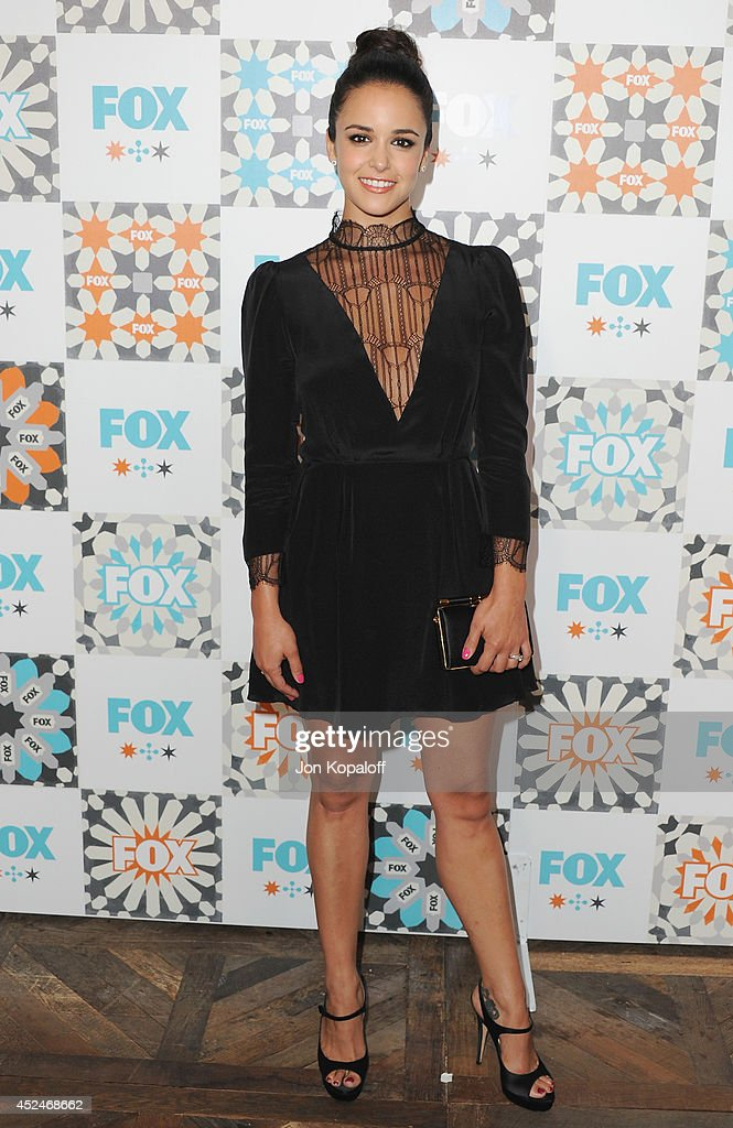 Actress Melissa Fumero arrives at the FOX AllStar Party 2014 Television Critics Association Summer Press Tour at Soho House on July 20 2014 in West...