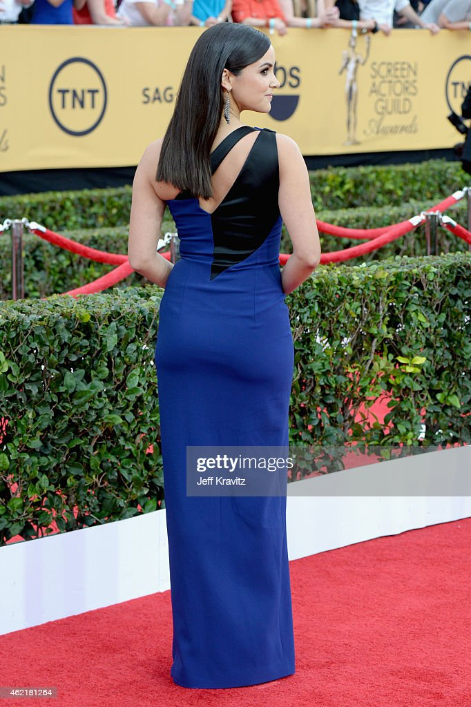 Actress Melissa Fumero attends the 21st Annual Screen Actors Guild Awards at The Shrine Auditorium on January 25 2015 in Los Angeles California