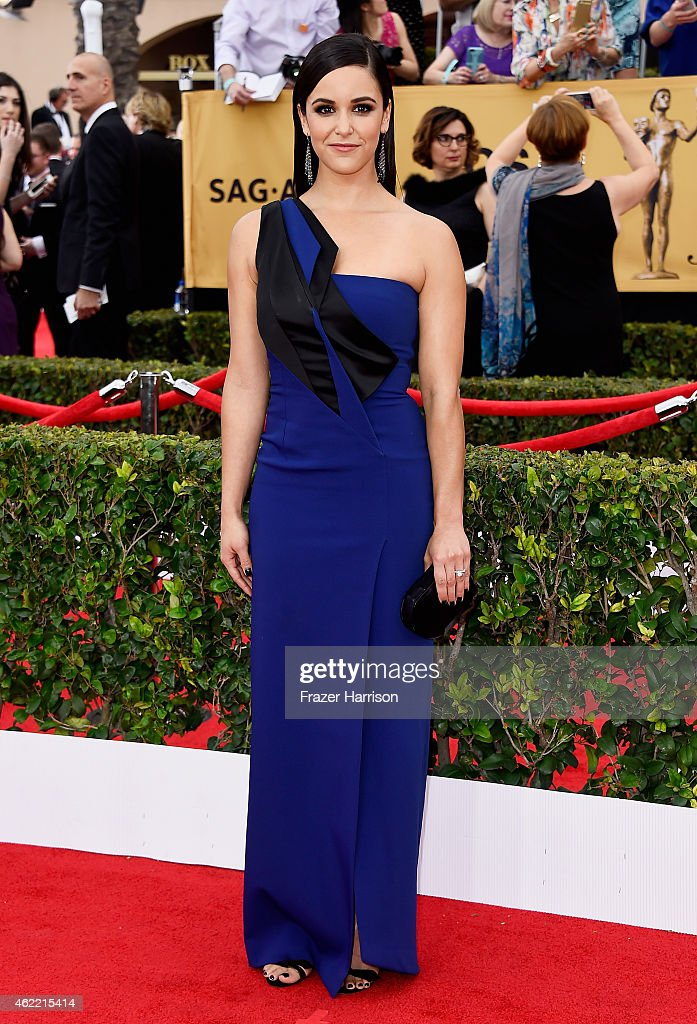 Actress <a gi-track='captionPersonalityLinkClicked' href=/galleries/search?phrase=Melissa+Fumero&family=editorial&specificpeople=5616782 ng-click='$event.stopPropagation()'>Melissa Fumero</a> attends the 21st Annual Screen Actors Guild Awards at The Shrine Auditorium on January 25, 2015 in Los Angeles, California.