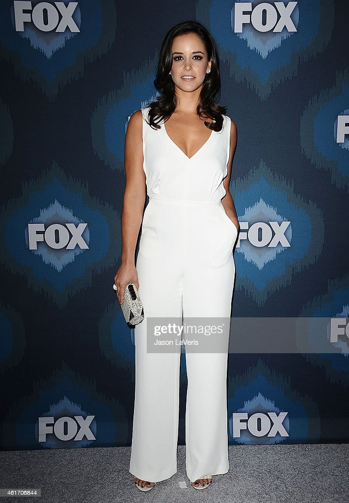 Actress <a gi-track='captionPersonalityLinkClicked' href=/galleries/search?phrase=Melissa+Fumero&family=editorial&specificpeople=5616782 ng-click='$event.stopPropagation()'>Melissa Fumero</a> attends the FOX winter TCA All-Star party at Langham Hotel on January 17, 2015 in Pasadena, California.