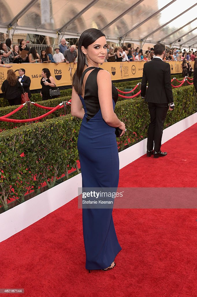Actress Melissa Fumero attends TNT's 21st Annual Screen Actors Guild Awards at The Shrine Auditorium on January 25 2015 in Los Angeles California...
