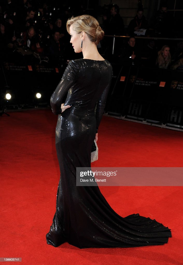 Actress Melissa George arrives at the Orange British Academy Film Awards 2012 at The Royal Opera House on February 12, 2012 in London, England.