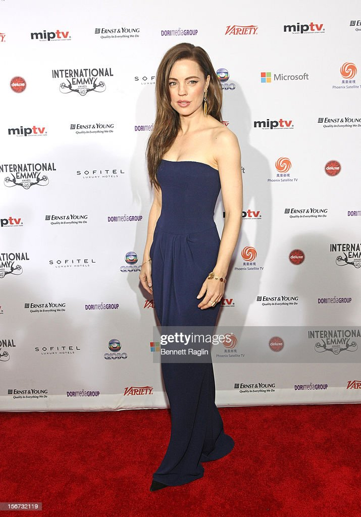 Actress Melissa George attends the 40th Annual International Emmy Awards at the Hilton New York on November 19, 2012 in New York City.