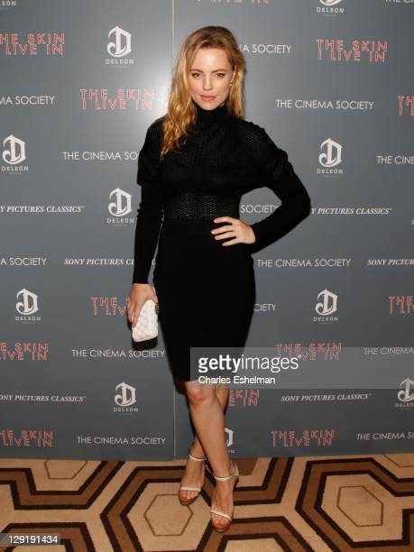 Actress Melissa George attends The Cinema Society DeLeon Tequila screening of 'The Skin I Live In' at the Tribeca Grand Screening Room on October 13...