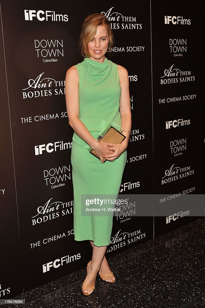Actress Melissa George attends the Downtown Calvin Klein with The Cinema Society screening of IFC Films' 'Ain't Them Bodies Saints' at the Museum of...