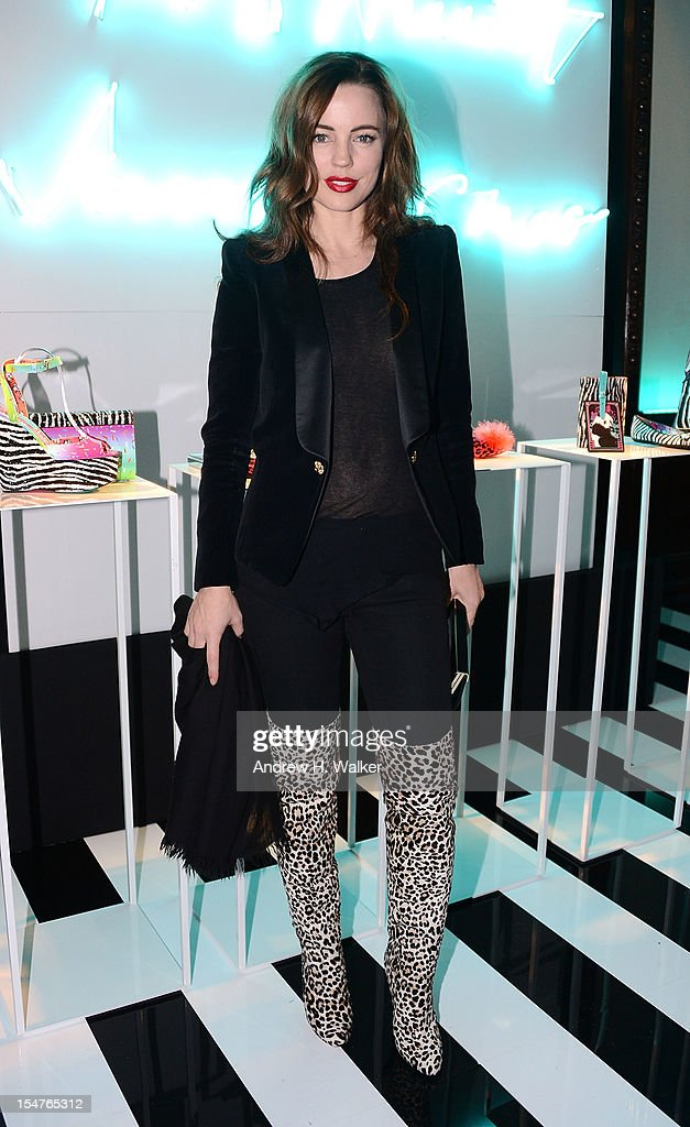 Actress Melissa George attends the Jimmy Choo and Rob Pruitt Collection Launch on October 25, 2012 in New York City.