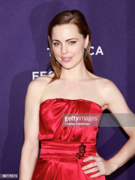 Actress Melissa George attends the 'Ultrasuede In Search of Halston' premiere during the 9th Annual Tribeca Film Festival at the SVA Theater on April...