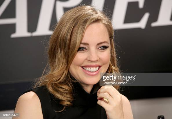 Actress Melissa George speaks at the the Variety Studio presented by Moroccanoil at Holt Renfrew during the 2013 Toronto International Film...