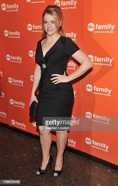 Actress Melissa Joan Hart attends the 2011 ABC Upfront Presentation at Beauty Essex on March 10 2011 in New York City