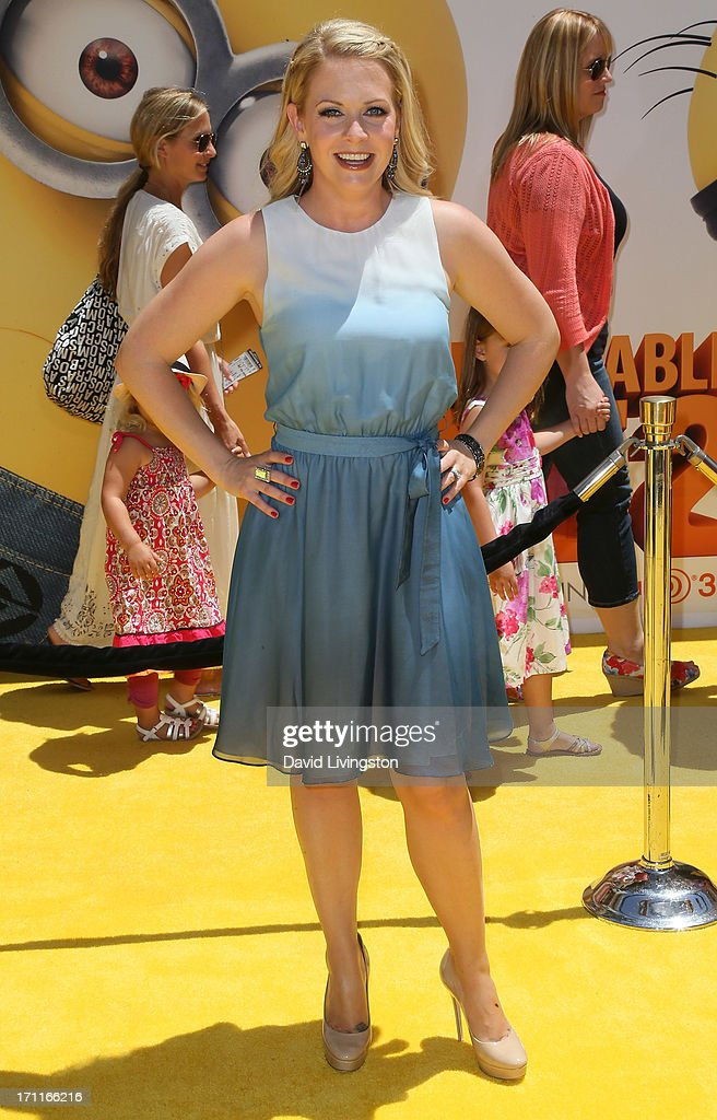 Actress Melissa Joan Hart attends the premiere of Universal Pictures' 'Despicable Me 2' at the Gibson Amphitheatre on June 22, 2013 in Universal City, California.