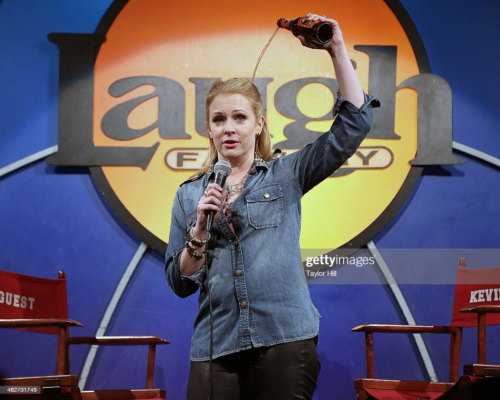 Actress <a gi-track='captionPersonalityLinkClicked' href=/galleries/search?phrase=Melissa+Joan+Hart&family=editorial&specificpeople=204647 ng-click='$event.stopPropagation()'>Melissa Joan Hart</a> performs during 'New Material Night with Kevin Nealon' at Laugh Factory on January 14, 2014 in West Hollywood, California.