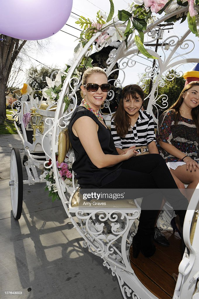 Actress Melissa Joan Hart rides in a carriage at the Sweet Harts 'Play Date' Launch Party Benefitting The Art of Elysium at Sweet Harts on March 5, 2011 in Sherman Oaks, California.