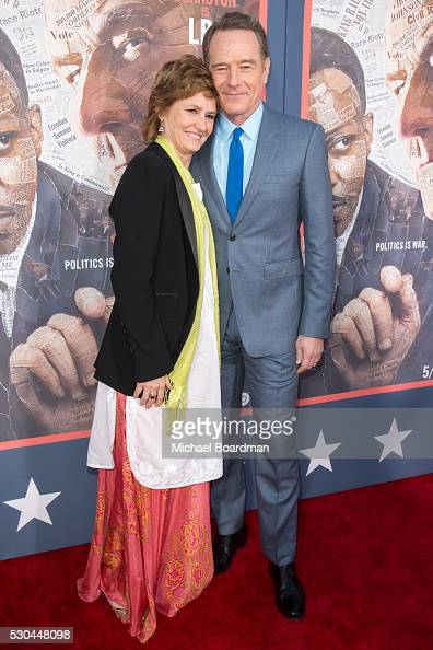 Actress Melissa Leo and actor Bryan Cranston attends the premiere of HBO's 'All The Way' at Paramount Studios on May 10 2016 in Hollywood California