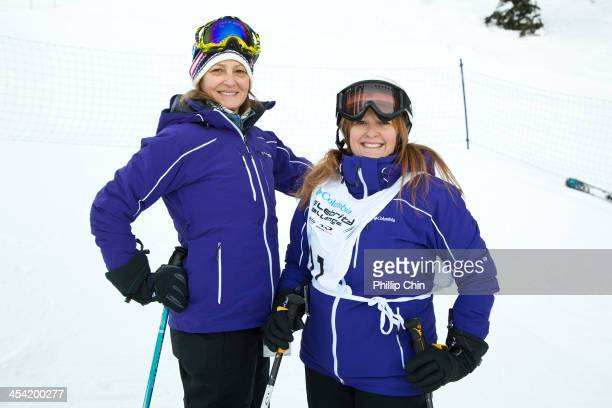 Actress Melissa Leo and Whistler Film Festival executive director Shauna Hardy Mishaw attend the Celebrity Challenge Ski Race at the 13th Annual...